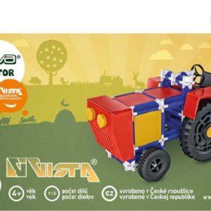 VISTA SEVA Traktor polytechnická STAVEBNICE 115 dílků