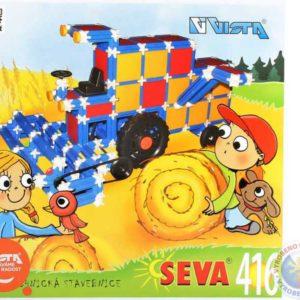 VISTA SEVA Kombjan Traktor polytechnická STAVEBNICE 416 dílků