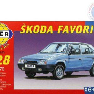 SMĚR Model auto Škoda Favorit klik 1:28 (stavebnice auta)