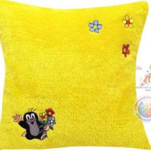 MORAVSKÁ ÚSTŘEDNA Polštář Krtek motiv žluté kytičky Krteček *PLYŠOVÉ HRAČKY*