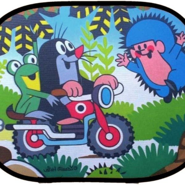Krtek a motoyckl stínítko dětská clona do auta (sada 2ks) KRTEČEK