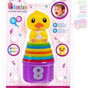 ET BAM BAM Baby kelímky edukativní skládací s kačenkou pro miminko
