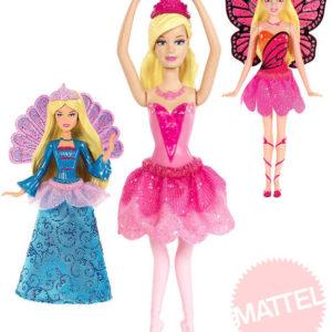 MATTEL BRB Panenka Barbie mini princezna 10cm 5 druhů