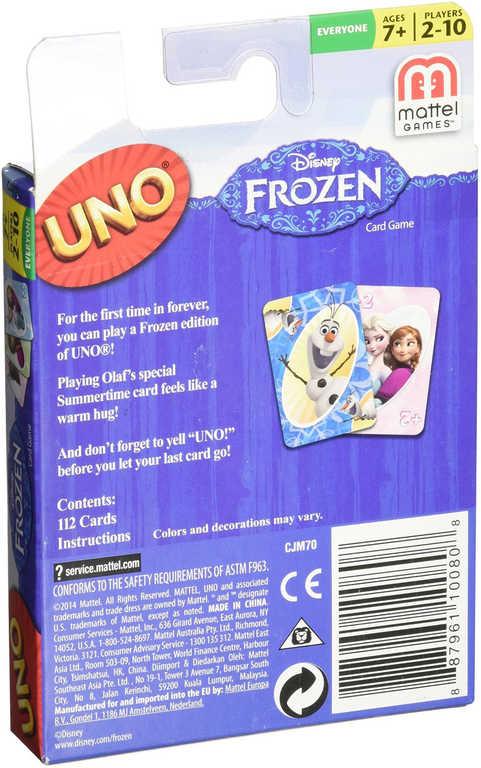 b16d783e7 MATTEL HRA Uno karty Frozen (Ledové Království) - Dětská hračka ...