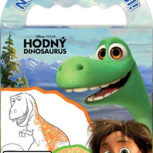 JIRI MODELS Omalovánky na cesty Hodný dinosaurus set s voskovkami a držátkem