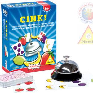 PIATNIK Hra CINK! postřehová karetní *SPOLEČENSKÉ HRY*