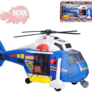 DICKIE Vrtulnik záchranářský 41 cm SVĚTLO ZVUK Na baterie