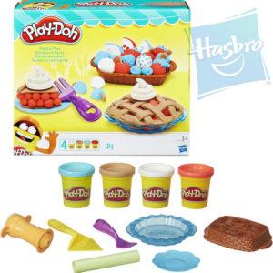 HASBRO PLAY-DOH Modelína zábavný koláč set 4 kelímky s nástroji