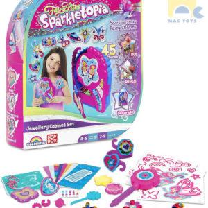 MAC TOYS Kouzelná šperkovnice dětská set se samolepkami a doplňky