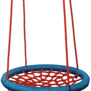 WOODY Houpačka síťovaná Kruh 85cm houpací červeno-modrý na zahradu