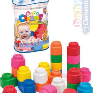 CLEMENTONI CLEMMY Baby Kostky gumové měkké set 24ks pro miminko