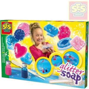 SES CREATIVE Výroba barevných mýdel s glittry kreativní sada