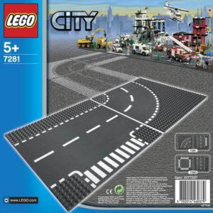 LEGO CITY Křižovatka ve tvaru T a zatáčky 7281