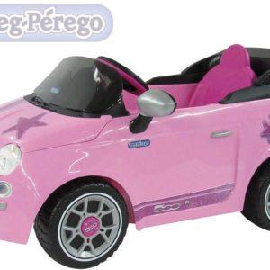 PEG PÉREGO Auto FIAT 500 STAR pink 6V ELEKTRICKÉ VOZÍTKO