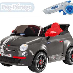 PEG PÉREGO RC Auto FIAT 500 grey 6V na dálkové ovládání ELEKTRICKÉ VOZÍTKO