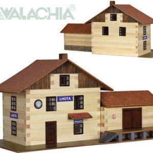 WALACHIA Nádraží vlakové 33W36 dřevěná stavebnice