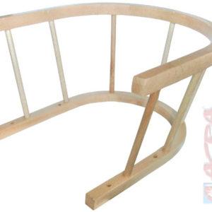 ACRA Ohrádka na saně dřevěná Sulov U set se 4 šroubky v sáčku