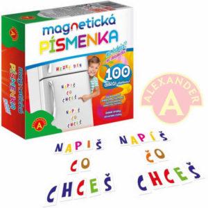 ALEXANDER Hra Písmenka magnetická set 100ks na lednici