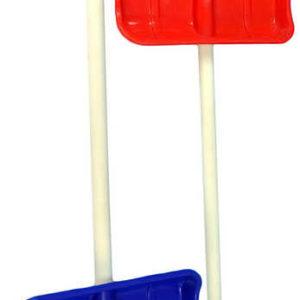 Lopata pro děti na sníh 87cm dřevěné hráblo dřevo/plast 2 barvy