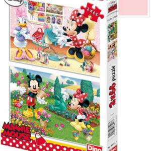 DINO Puzzle 32x22cm Disney Pracovitá Minnie 2x66 dílků v krabici 2v1