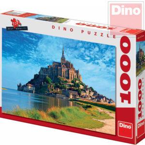 DINO Puzzle 1000 dílků Mont Saint Michel 66x47cm skládačka v krabici