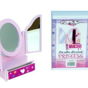 DŘEVO ŠPERKOVNICE Zrcadlo 3-dilné PRINCESS *DŘEVĚNÉ HRAČKY*