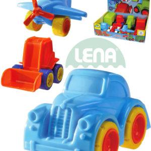 LENA Baby autíčko Mini Roller 11cm dopravní prostředky 8 druhů plast
