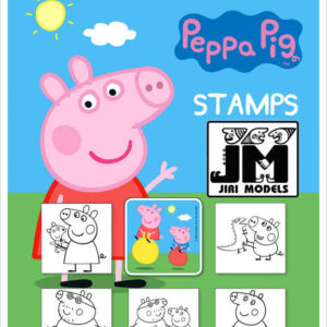 JIRI MODELS Razítka 5+1 prasátko Peppa Pig