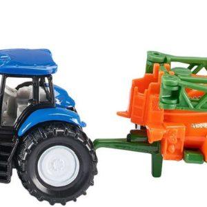 SIKU Model traktor s přívěsem na rozprašování hnojiva 1:87 kov