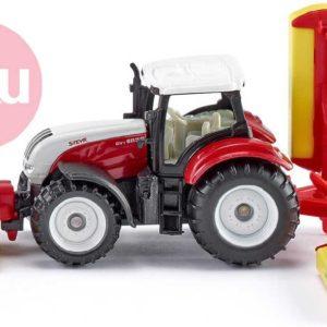 SIKU Model traktor Steyr se sekacími nástavci kov