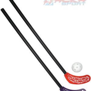 ACRA Sada florbalová RS LASER KID 2 dětské hokejky 65cm + míček