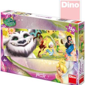 DINO Puzzle Disney Fairies víly a Raf 150 dílků v krabici 66x23cm
