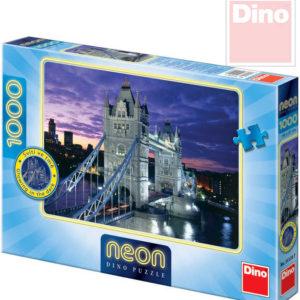 DINO Puzzle Tower Bridge neon XL 66x47cm 1000 dílků svítící