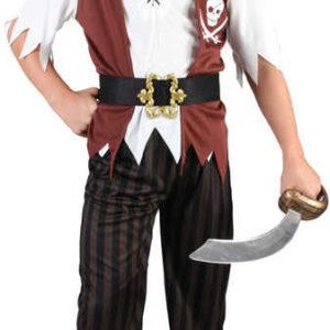 KARNEVAL Šaty malý Pirát vel.M (120-130 cm) 5-9 let KOSTÝM