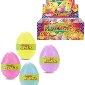 Kuřátko líhnoucí a rostoucí zvířátko vajíčko kouzelné 4 barvy plast