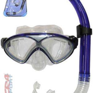 ACRA Potápěčské brýle pro dospělé set se šnorchlem do vody na blistru