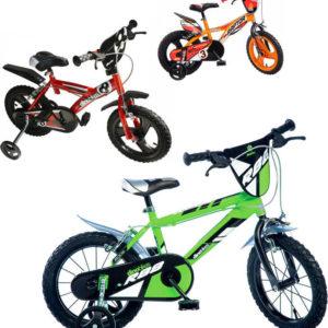 """ACRA Dětské kolo Dino Bikes 143 chlapecké 14"""" balanční kolečka 3 barvy"""