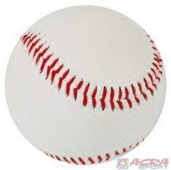 ACRA Míček basebalový kožený bílý Na baseball