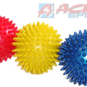 ACRA Míček masážní 9cm antistresový s bodlinkami 3 barvy v krabičce