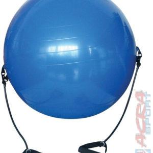 ACRA Míč gymball modrý 65cm set se siliči na cvičení