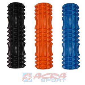 ACRA Válec masážní 45x14cm fitness roller na cvičení na rehabilitaci 3 barvy