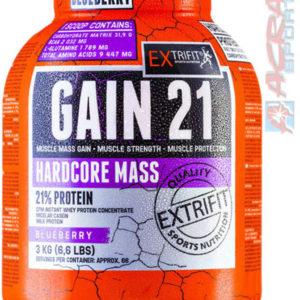 ACRA Extrifit Hardcore Gain 21 3kg borůvka SV28 zvláštní výživa pro sportovce