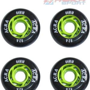 ACRA Náhradní kolečka k inline bruslím 64 x 24 mm CS05 set 4ks
