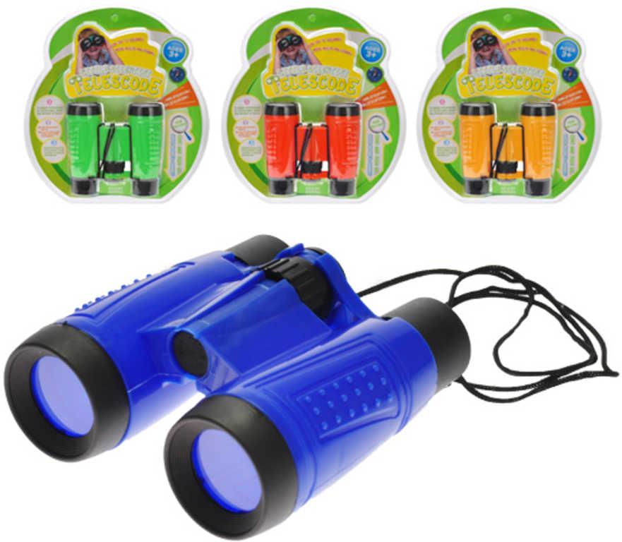 2c7d3341d Dalekohled barevný dětský plastový 4 barvy na kartě - Dětská hračka ...