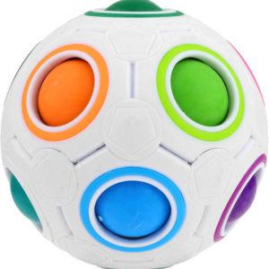 Hlavolam dětský míček 7cm v síťce plast