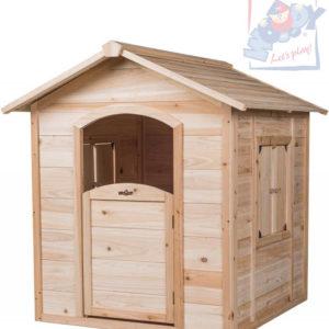 WOODY DŘEVO Stefano zahradní domek dětský s okenicemi natur dřevěný