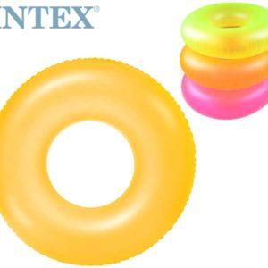 INTEX Kruh neon plavací 91cm nafukovací kolo do vody 3 barvy