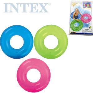 INTEX Kruh plavací 76cm nafukovací kolo transparentní do vody 59260