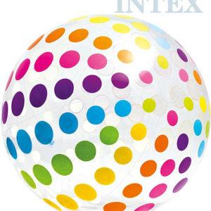 INTEX Míč nafukovací plážový 107cm průhledný s puntíky na vodu 59065