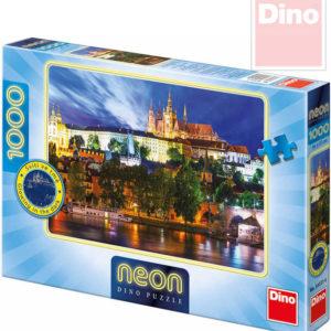 DINO Puzzle Letní noc v Praze neon XL 66x47cm 1000 dílků svítící